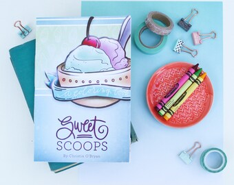 "Ice Cream Coloring Book ""Sweet Scoops"" - coloring for adults and coloring for kids"