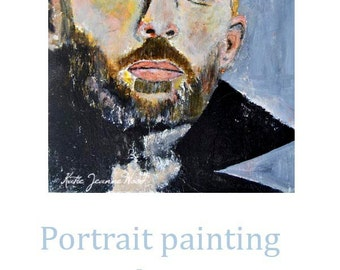 Acrylic Portrait Painting. Thom Yorke Painting. Radiohead Band Art. Singer Celebrity Portrait. Musician's Wall Art