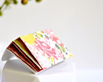 Pink Floral Pattern Mini Envelopes {Pk5} Embossed | Housewarming | Gift for Her under 10