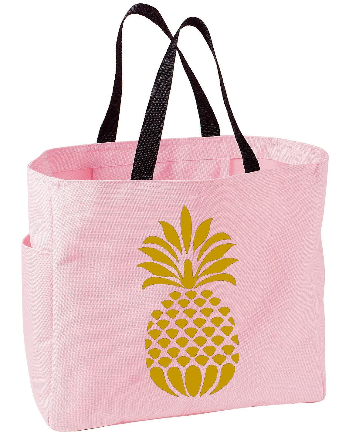 Pineapple custom iron on decal only for tote bag t shirt or for Personalized t shirt bags