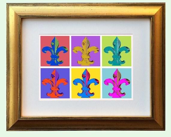 Fleur De Lis Pop Art Fleur Abstract Framed And