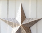Wall star barn star book text star Jane Austen Pride and Prejudice metal star 12 inch home decor 3D Cottage Chic