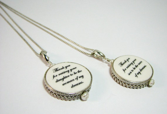 Two Round, Sterling Framed Photo Charm Necklaces - FP16CNx2
