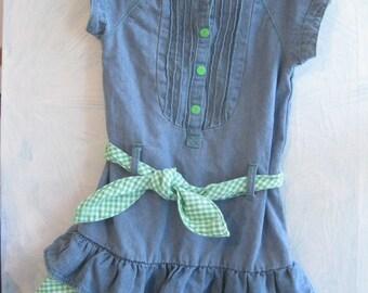 Childrens Clothing, Girls Dress, Size 4T, Carters, Blue, Checkered, Birthday Dress, School Clothes, by enfantjoli on etsy