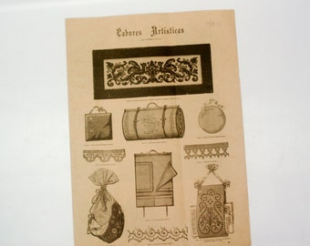FOUND IN SPAIN - late 1800s examples of projects for the home for ladies - 'Labores Artisticas'