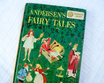 Illustrated double children's book - Andersen's Fairy Tales and Johnny Crow's Garden - 1958