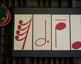Music Flash Cards Frameable Wall Art Musical Symbols
