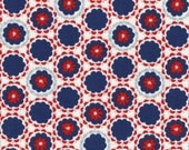 Radiant Girl Fabric by Lecien - 49182-71 Navy/Red - 1/2 or 1 yard