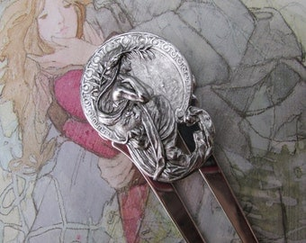 Mucha Art Nouveau hair comb Exotic Lady hair accessories bridal hair ornaments Large Decorative Hair Comb