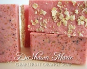 SOAP- Grapefruit Orange Soap - Vegan Soap - Handmade Soap - Citrus Soap- Soap Gift