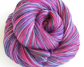 Hand Dyed Bamboo Yarn- Petunia