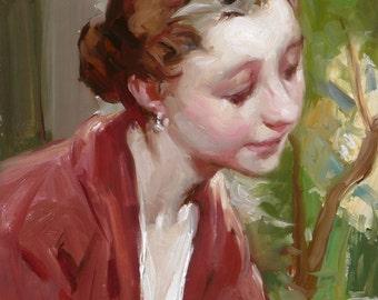 Original Oil Painting - Teacher's Head Study