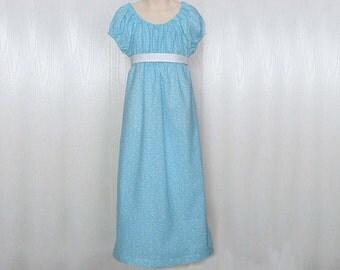 Girl's Regency Dress, Jane Austen, Girls Regency Style Dress Size 5/6 Ready to Ship