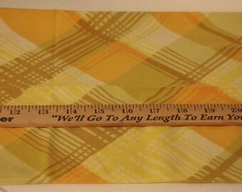 Vintage Fat Quarter, Plaid Fat Quarter, Reclaimed Fabric, Sewing Fabric, Quilting Fabric, Stash Builder,