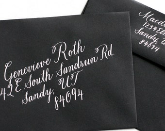 Wedding Envelope Addressing, Hand lettered Calligraphy, Party Invitation