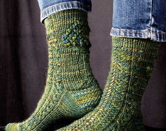 Fern and Forest Socks Knitting Pattern - PDF