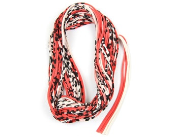 Girlfriend Gift, Red Scarf, Leopard Print, Women, Infinity Scarf, Gift for Her, Animal Print, Spring Scarf, Leopard Print Scarf