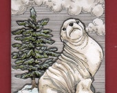 SALE! Christmas Seal--2015 Large Limited Edition Ornament (75% OFF! - was 20.00)