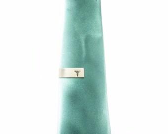 Carduceus -  Symbol of Medicine - Tie Bar