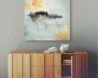 Minimalist Abstract Landscape Canvas Print, Large Giclee Print, Modern Home, Modern Art, Coastal Decor, New England, Interior Design