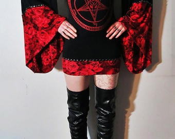 Hell Couture Gypsy Rose Pentagram Mini Dress