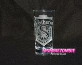 Harry Potter - Slytherin  Etched glasses House Pride