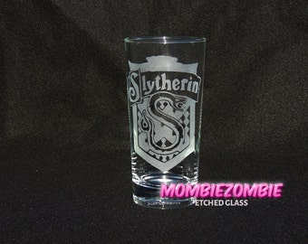 Harry Potter - Slytherin  Etched glasses House Pride