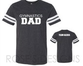 Gymnastics DAD Grey Jersey Tee, CUSTOM Order for J&R