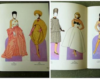 Vintage Paper Dolls, 1960s Fashion Designs, Tom Tierney, Vintage Fashion Dolls, Haute Couture Paper Dolls, Fashion Designs of the Sixties