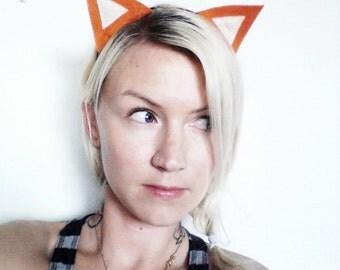 Orange Fox Ears Headband