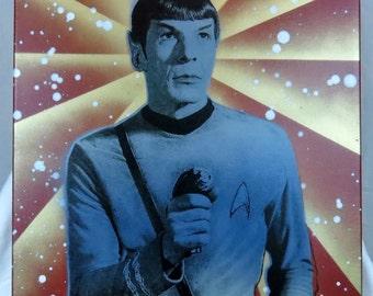 Mr. Spock 16x20 Screenprinted Wall Art