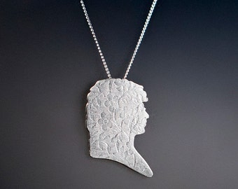 Astronomer Caroline Herschel Cameo Necklace, Astronomy Necklace, Geek Gift Idea, Feminist Jewelry