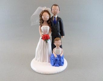 Cake Toppers - Custom Handmade Family Wedding Cake Topper