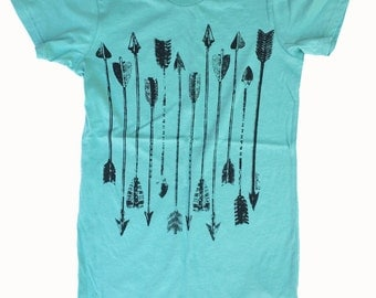 SALE! Womens ARROWS - Alternative Apparel Basic Crew Tee S M L XL
