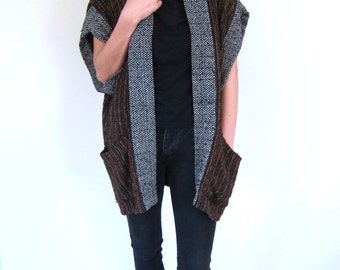 Oversized Knit Cardigan Sweater