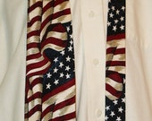 Vintage Silk American Flag Neck Tie by Museum Artifacts