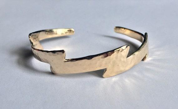 Gold Lightning Bolt Cuff Bracelet