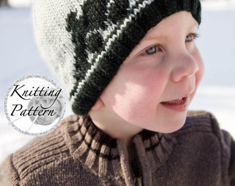 Knitting Pattern for Boy's Train Hat - Captain Caboose