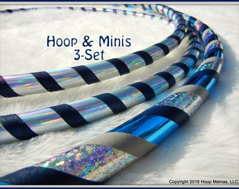 3-Pack Set - Custom Hula HOOP & MINI TWINS. Any Tubings, Colors and Sizes. Choose Tapes/Colors in Notes at Checkout.