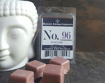 Wax Melts Brown Sugar Scented, Coconut & Soy Wax Melts Eco Friendly Vegan Home Fragrance
