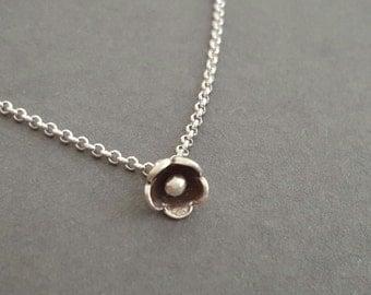 Flower Bracelet sterling silver charm bracelet gifts for her daughter sister mother grandmother necklace