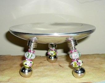 Hot Pink Ring Dish,  Jewelry Dish, Earrings Dish