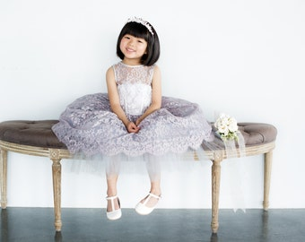 The Penelope Flower Girl Dress- Lavender (More Colors Available)