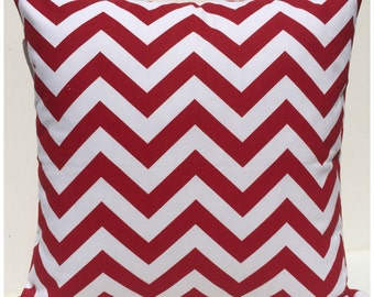 Pillow Cover, Pillow, Decorative Pillow, Lipstick Red Chevron/Zig Zag Cushion Cover - FREE SHIPPING AUS Only