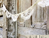 crocheted doily garland