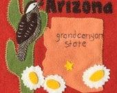 Arizona Wool Felt Block Digital Pattern - United States Quilt