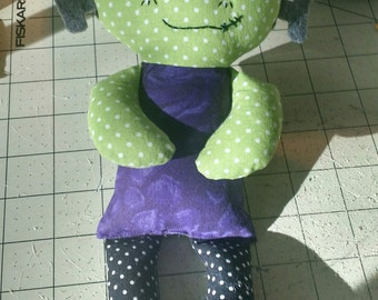 Frankenstein's Monster Rag doll Calico made to order