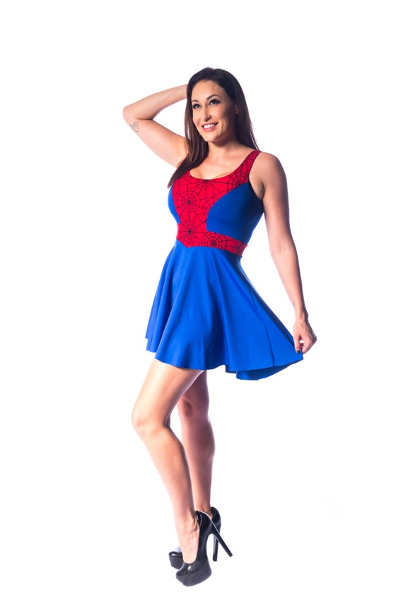 Spider Skater Dress
