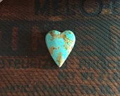 Number 8 Turquoise Heart Cabochon | Heart Cab
