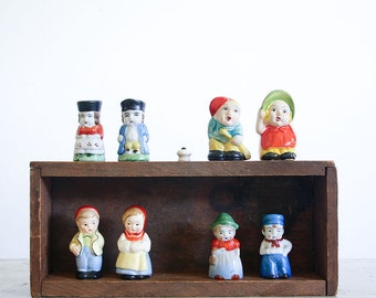 Vintage Salt and Pepper Shaker Collection / Mixed Lot of 4 Sets / Retro Kitchen Decor